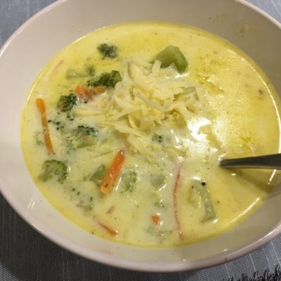 Broccoli Cheese Soup in the Instant Pot